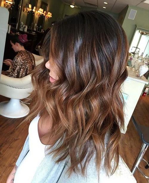 Ombré hair chocolat caramel