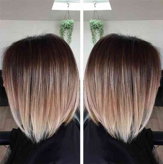 Ombré hair cheveux courts lisses