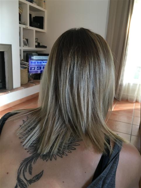 Ombré blond polaire