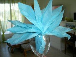 Pliage serviette en papier pour verre