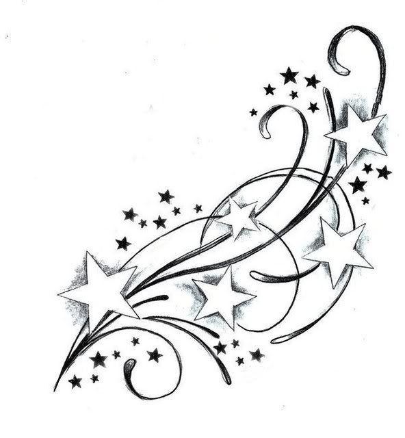 Tatouage étoile filante homme