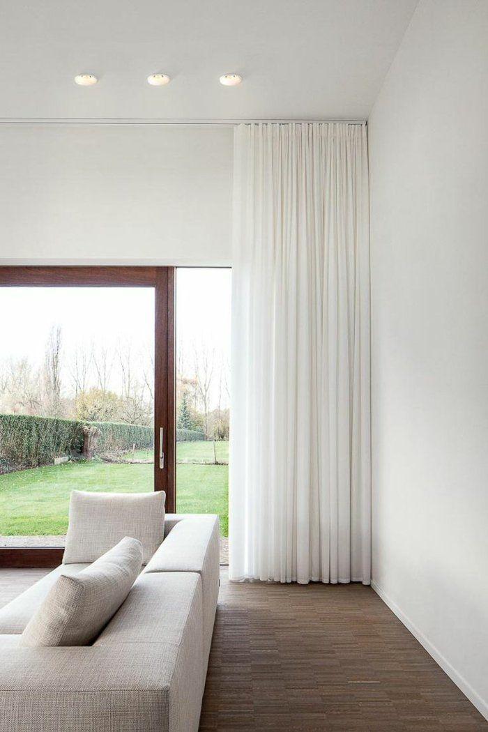 Rideau baie vitrée moderne