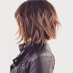 Carré plongeant long ombré hair