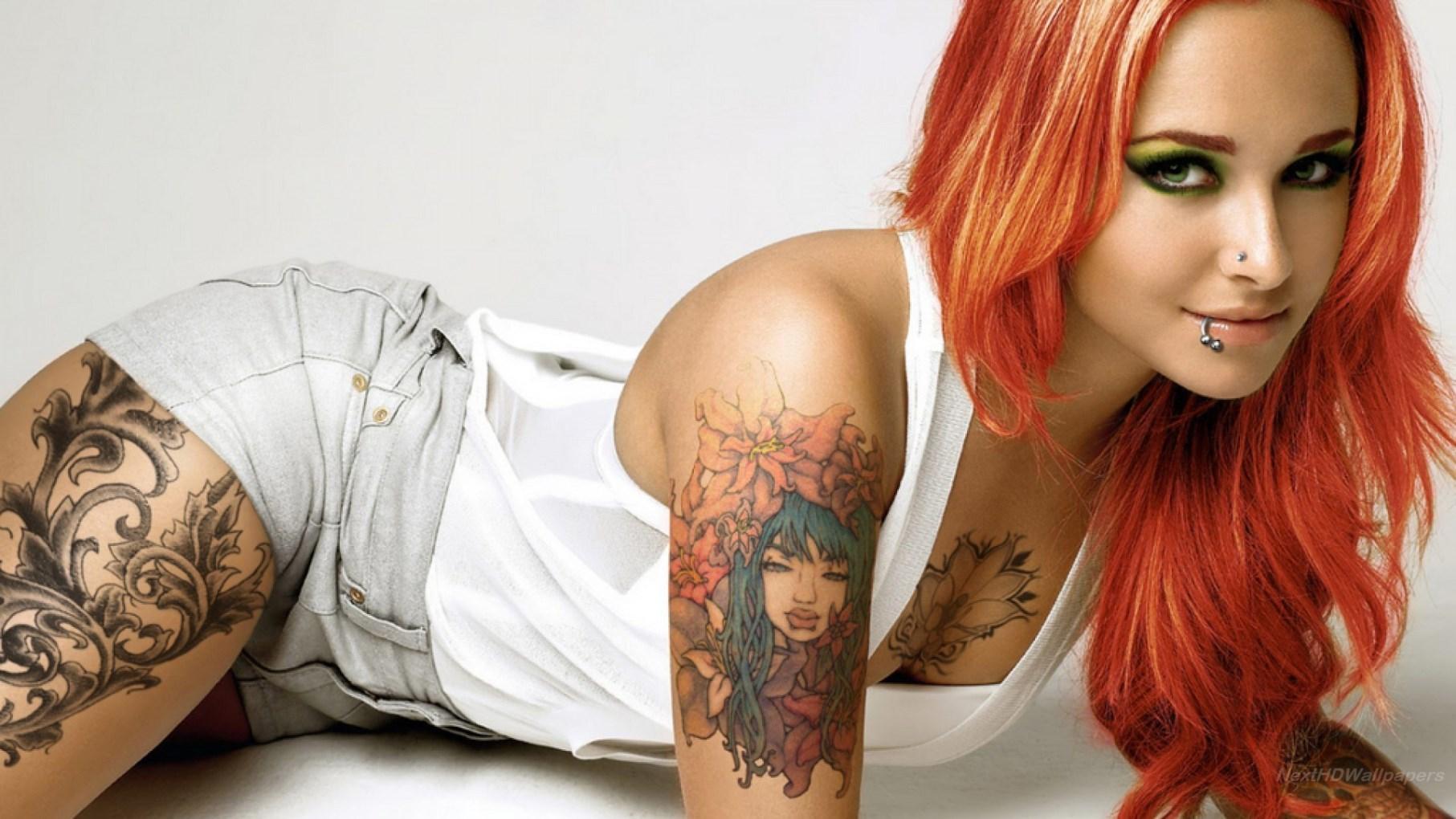 Wallpaper femme tatoué