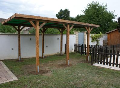 Construire un carport toit plat