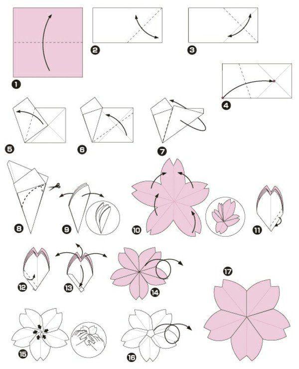 Origami facile a faire fleur