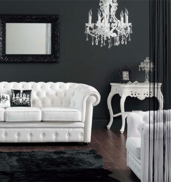 Chambre baroque noir et blanc