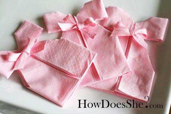 Pliage serviettes bapteme