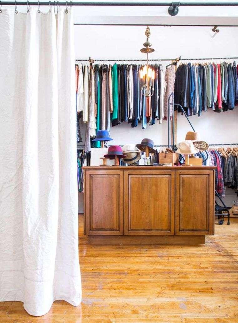 Comment fermer un dressing avec un rideau
