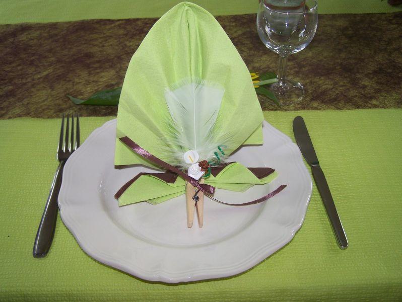 Pliage serviette communion fille