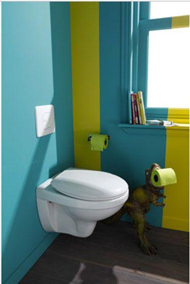 Peinture wc bleu