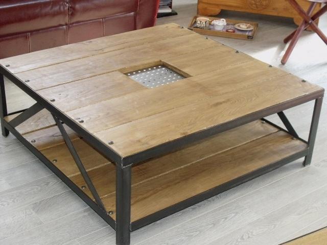 Fabriquer sa table basse industrielle