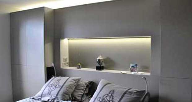 Tete de lit placo design
