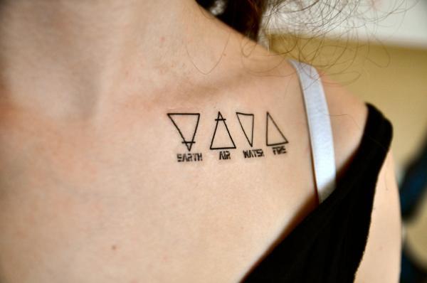 Tatouage double triangle