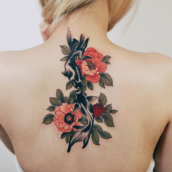 Pivoine tattoo japonais