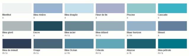 Nuancier castorama colours
