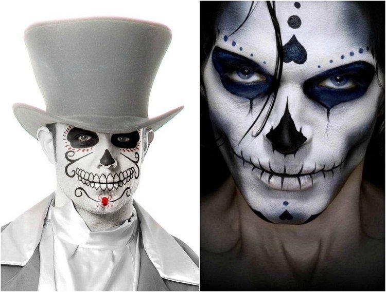 Maquillage halloween homme joker