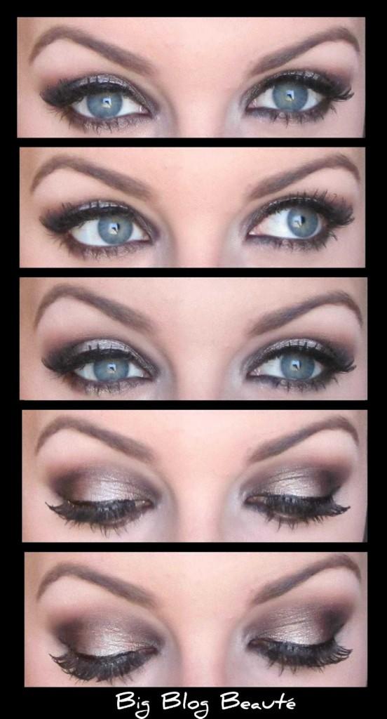 Tuto maquillage yeux bleus gris