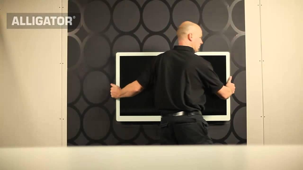 Fixer tv mur placo