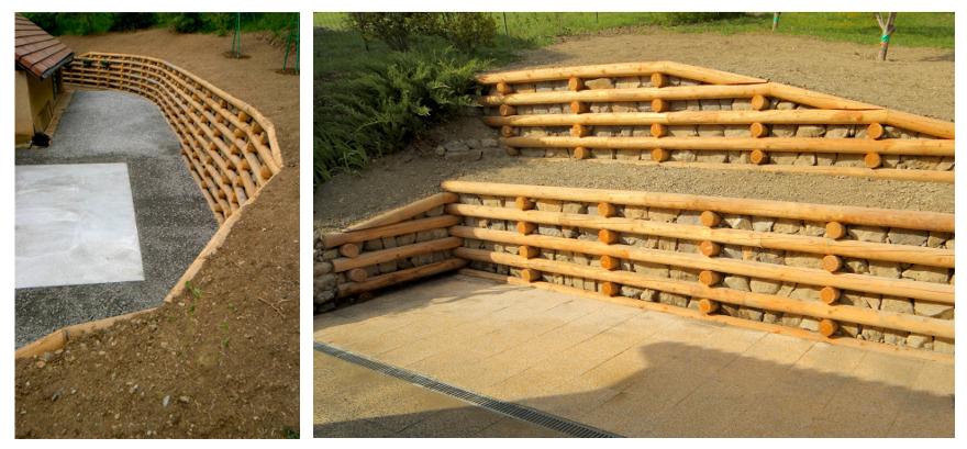 Mur de soutenement en rondin de bois prix