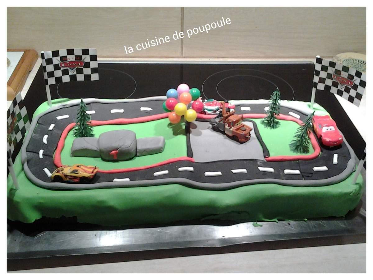 Gateau circuit cars