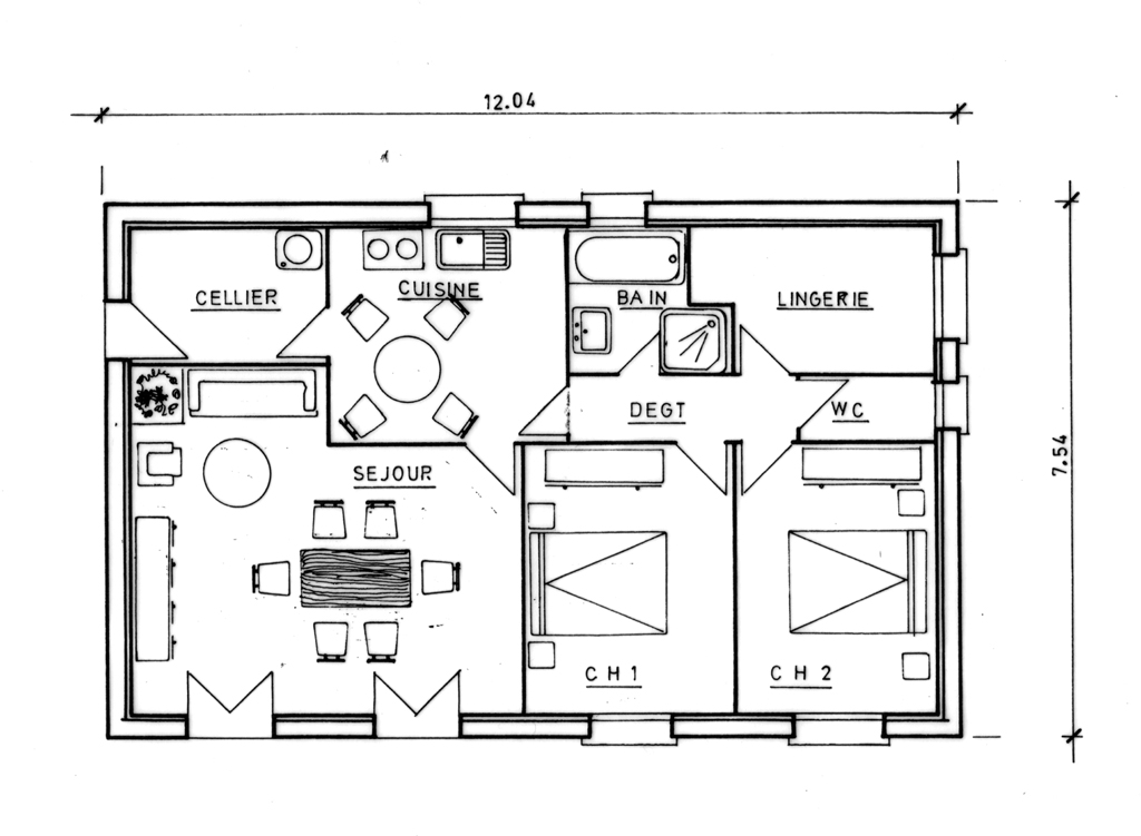 Plan maison 100m2 rectangle