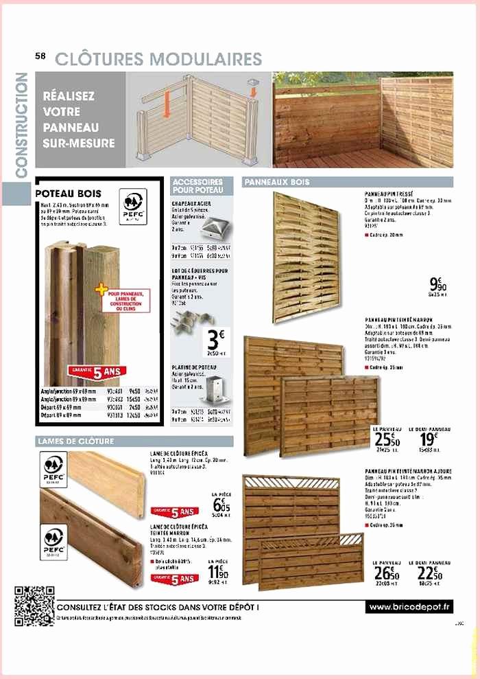 Panneaux bois cloture brico depot