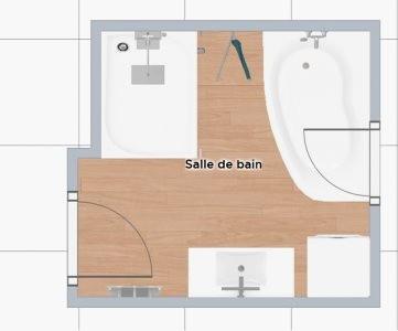 Plan salle de bain 7m2