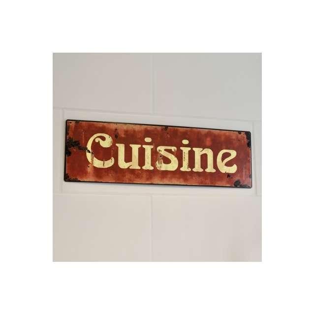 Plaque vintage cuisine