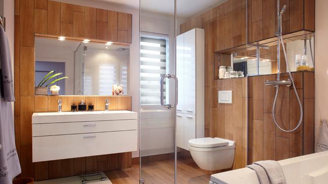 Salle de bain scandinave chic