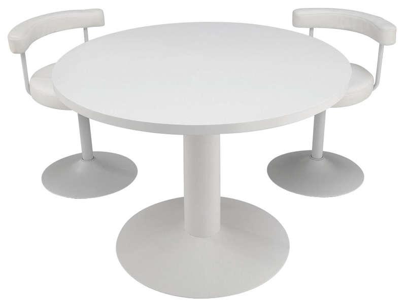 Table ronde blanche conforama