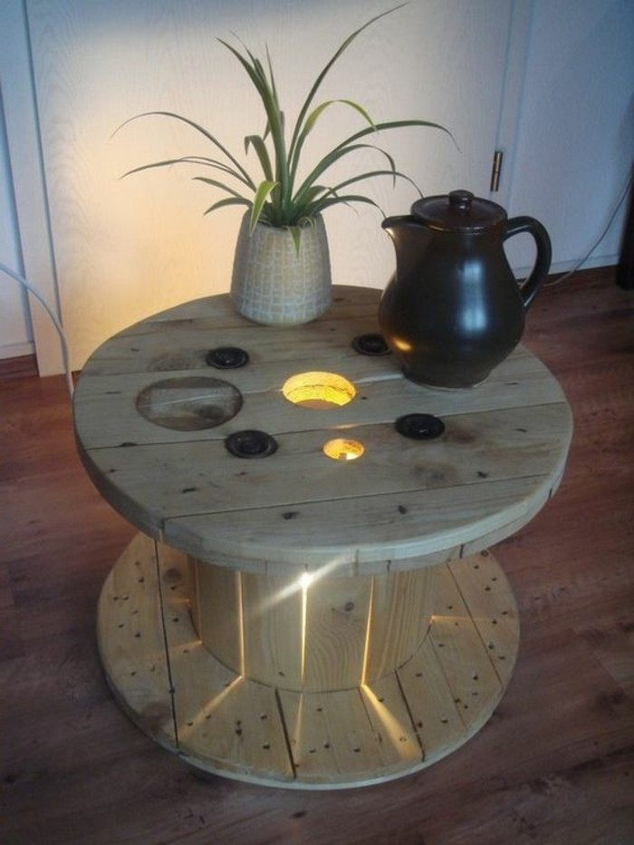 transformer un touret en table basse chaton chien donner. Black Bedroom Furniture Sets. Home Design Ideas
