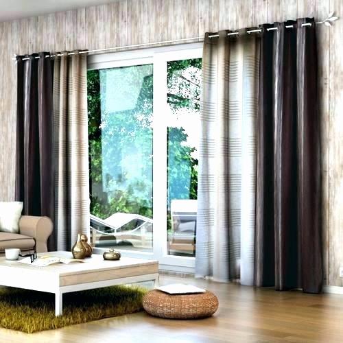 Rideau pour baie vitrée coulissante