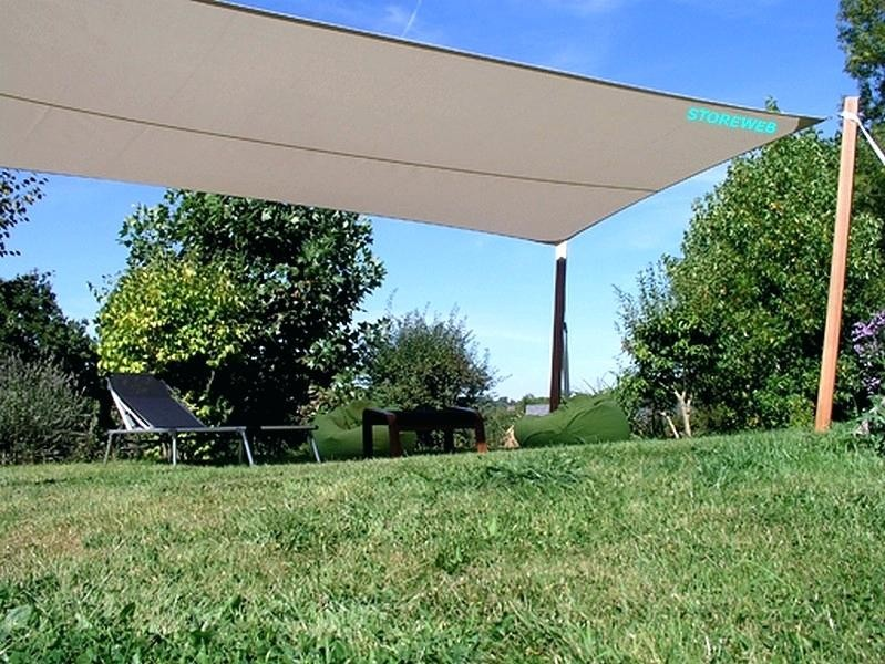 Voile ombrage rectangulaire 6x4